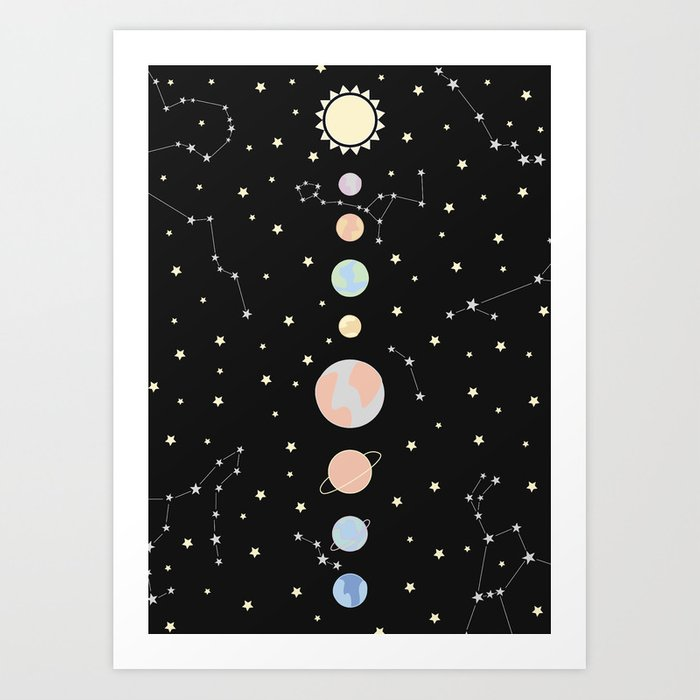 For You - Solar System Illustration Kunstdrucke