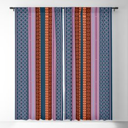Ethnic Andean Peruvian Textile Pattern Blackout Curtain