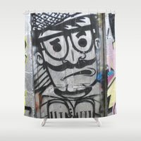 dublin Shower Curtains featuring Dublin Graffitti Part II by Bridget Lynn
