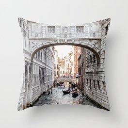 Bridge of Sighs, Venice, Italy (Lighter Version) Throw Pillow
