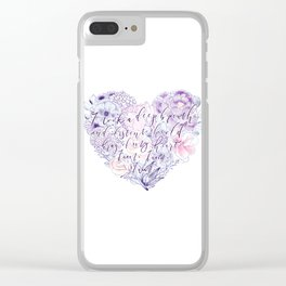 flower heart . sylvia plath quote . the bell jar Clear iPhone Case
