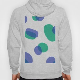 SIMPLE DOTS BLUE ON WHITE Hoody