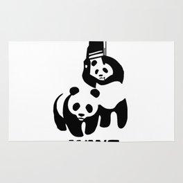 Panda Wrestling Rug