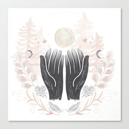 Moon Magic - In tune with the Moon Canvas Print