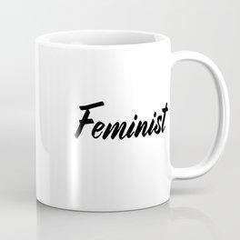 Feminist (on white) Coffee Mug