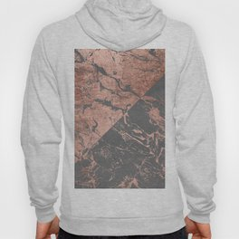 Modern rose gold marble inverted color block grey cement concrete Hoody
