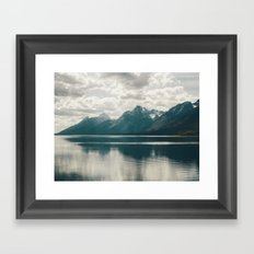 Reflection On Jenny Lake Framed Art Print