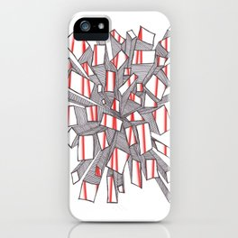 Red Fragmentation iPhone Case