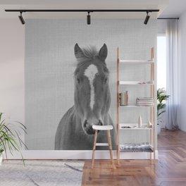 Horse II - Black & White Wall Mural