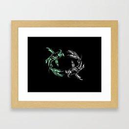 Koi Balance Framed Art Print