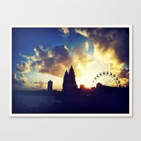 ferris wheel Canvas Prints featuring Ferris Wheel by Bosco