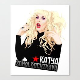 Katya Zamo, RuPaul's Drag Race Queen Canvas Print