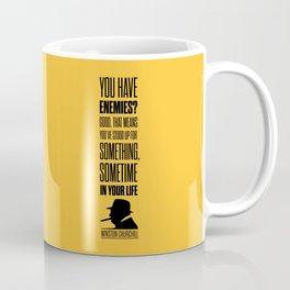Lab No. 4 - Winston Churchill Inspirational Quotes Poster Coffee Mug