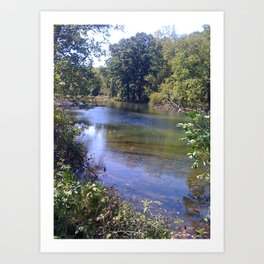 Down the River Art Print