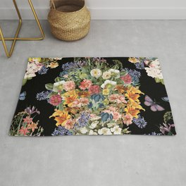 Lush Baroque Floral Rug