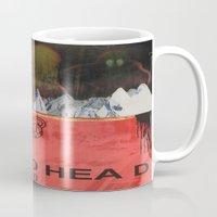 radiohead Mugs featuring Radiohead 20 by W. Keith Patrick