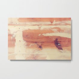 Wood planks shipboard texture Metal Print