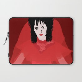 Lydia in Red on Maroon Laptop Sleeve