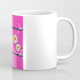 Barbed Wire and Daisies Coffee Mug
