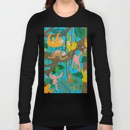 Happy Sloths Jungle Long Sleeve T-shirt
