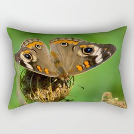 COMMON BUCKEYE BUTTERFLY IN THE FALL (Close-Up) Rectangular Pillow