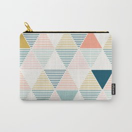 Modern Geometric Carry-All Pouch