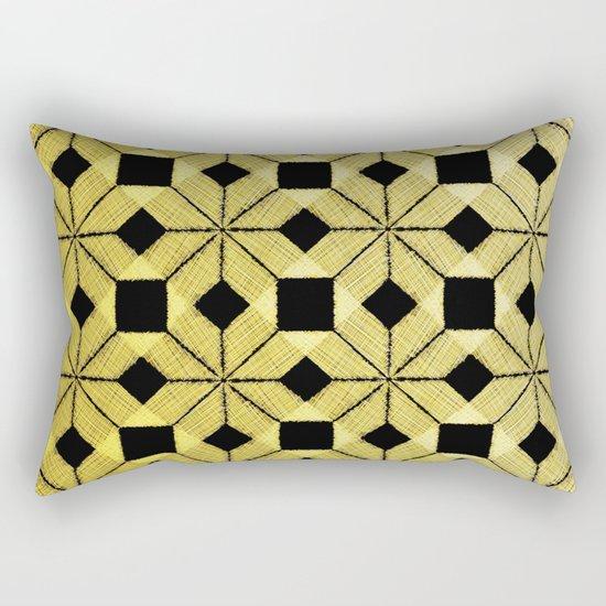 Golden Snow Rectangular Pillow