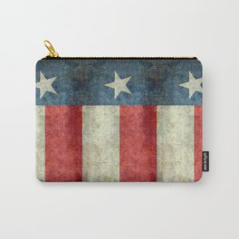 Texas flag, Retro style Vertical Banner Carry-All Pouch