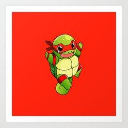 TMNT_POKET_MONSTER_RED Art Print