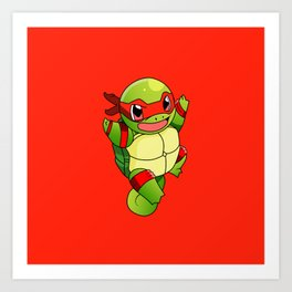 TMNT_POKET_MONSTER_RED Art Print