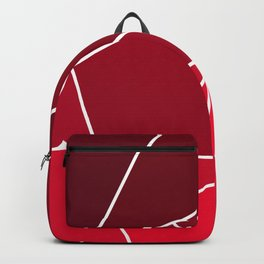 Red Line Pattern Backpack