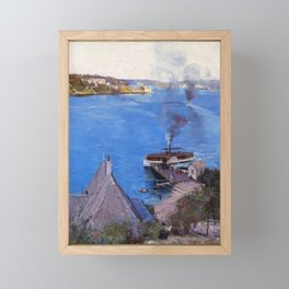 Arthur Streeton - From Mcmahon's Point, Fare One Penny - Digital Remastered Edition Framed Mini Art Print