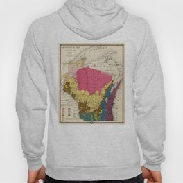 Vintage Wisconsin Geology Map (1878) Hoody