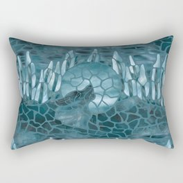 Moonlight Story (Teal) Rectangular Pillow