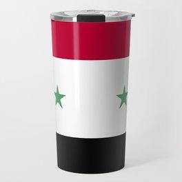 Syria flag emblem Travel Mug