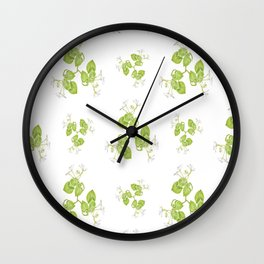 Photographic Floral Decorative Pattern Wall Clock