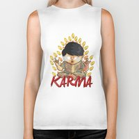 karma Biker Tanks featuring Karma by Seez
