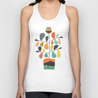 plant Tank Tops featuring Potted Plant 4 by Picomodi