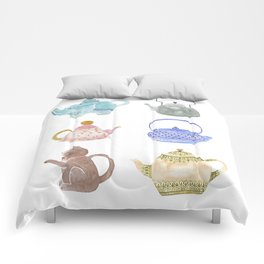 Waterclor Teapot Collection Comforters