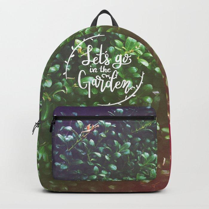 Let's go in the Garden Backpack