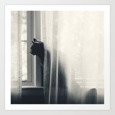 Le Kitty  Art Print