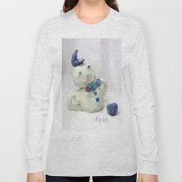 Snowman Sculpture Long Sleeve T-shirt