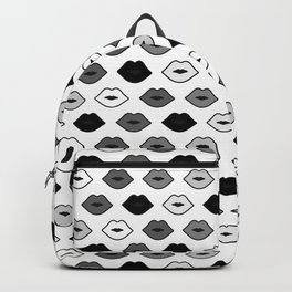 Chessboard Lips - Black and White Backpack