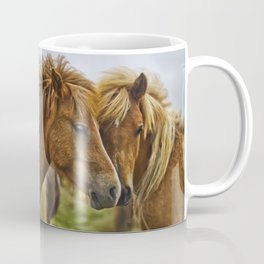 Two horses portrait  Coffee Mug