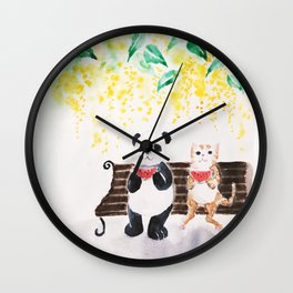 Summer / watercolor Wall Clock