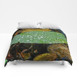 Laundered Lily Pad Comforters