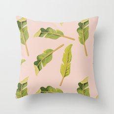 Tropical '17 - Solar [Banana Leaves] Throw Pillow