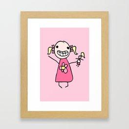 Jordan and Her Doll Framed Art Print
