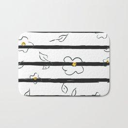 Stripes and Flowers Bath Mat