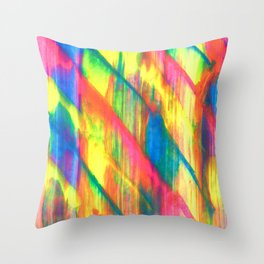 Glowing Neon Abstract Throw Pillow